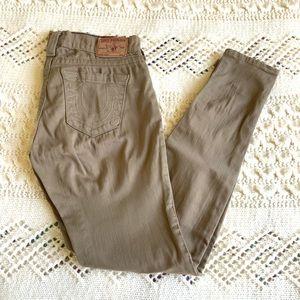 True Religion Casey Skinny Khaki Jeans size 26